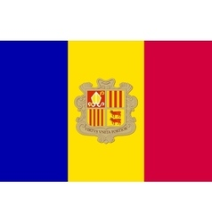Flag of Andorra in correct size and colors vector image