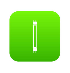 fluorescence lamp icon digital green vector image