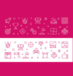games banners game concept horizontal vector image