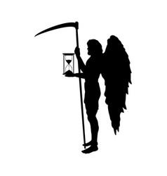 God time chronos silhouette ancient mythology vector