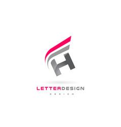 H letter logo design futuristic modern lettering vector