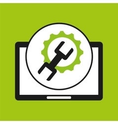 Hand holds tablet optimized tool vector