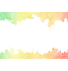 Hand painted rainbow watercolor texture frame vector