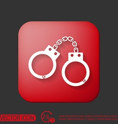 handcuffs symbol of justice police icon vector image