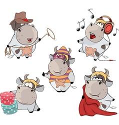 Happy cows Clip-Art Cartoon vector