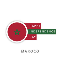 Happy morocco independence day template design vector