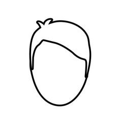 head man male line vector image