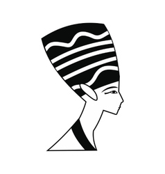 Head of Nefertiti icon simple style vector