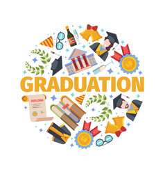 highly anticipated graduation concept joyful vector image