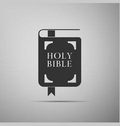 Holy bible book icon isolated on grey background vector