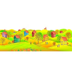 Horizontal autumn banner vector