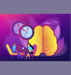 hypnosis practice concept vector image