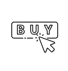icon mouse click on buy button vector image