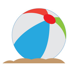 Isolated beach ball vector
