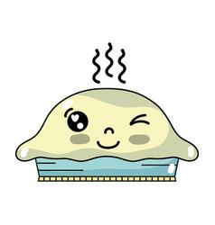 Kawaii cute funny sweet cake vector