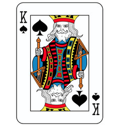 king of spades french version vector image