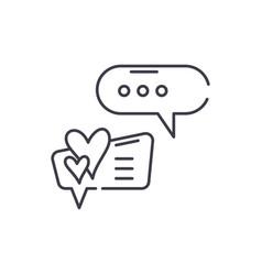 love correspondence line icon concept love vector image