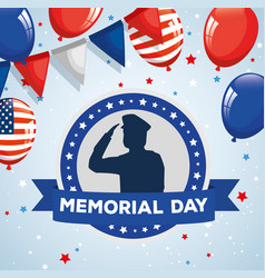 Memorial day honoring all who served saluting vector