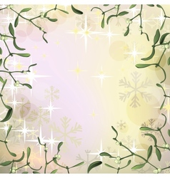 Mistletoe frame for Christmas background with vector image vector image