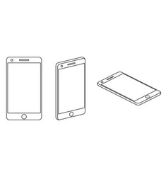 mobile phone isometric icons vector image