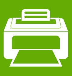 Modern laser printer icon green vector