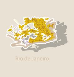 Modern map - rio de janeiro sticker vector