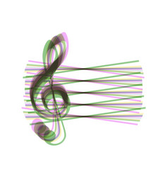Music violin clef sign g-clef colorful vector