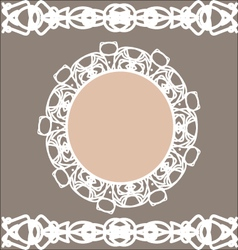 Pastel vintage stylized round frame and borders vector