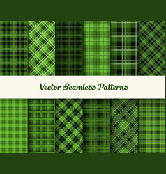 patrick day patterns in green colors vector image