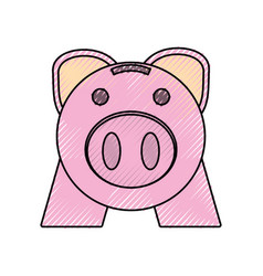 Piggy money saving vector