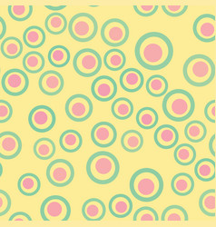 pink and yellow abstract circle geometric pattern vector image