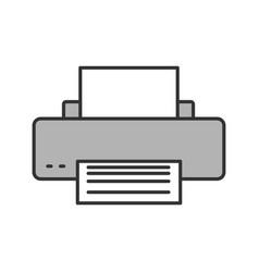 Printer color icon vector