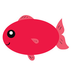 red fish on white background vector image