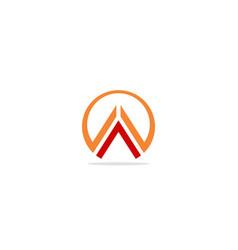 round line triangle colored company logo vector image