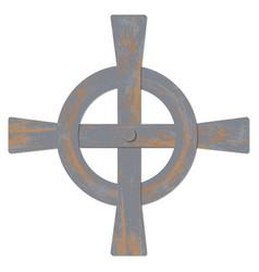 saint patricks day celtic cross vector image