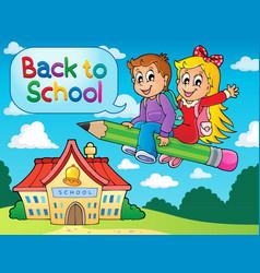 School kids theme image 6 vector