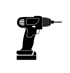 Screw gun icon impact wrench or screwgun vector