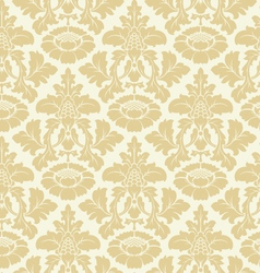seamless floral damask pattern vector image