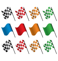 Set racing flags vector