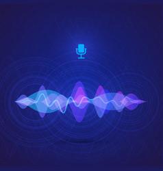 sound equalizer digital vote interface vector image