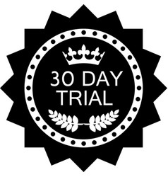 Thirty day trial icon vector