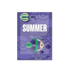 Tropical poster summer days trendy seasonal vector