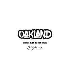 United states oakland california city graffitti vector