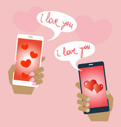 valentines love confessions sending lovers vector image