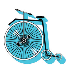 Vintage bike type 3 icon with a drop down shadow vector