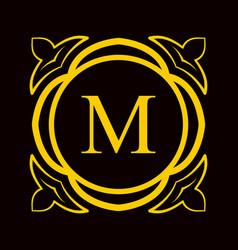 vintage ornamental monogram vector image