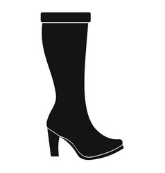 woman boots icon simple vector image