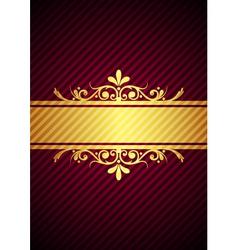 gold bourdeaux background vector image vector image