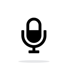 Microphone icon on white background vector image vector image
