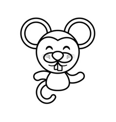 mouse animal toy outline vector image vector image